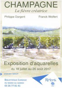 «CHAMPAGNE, la fièvre créatrice», carnet de voyage illustré par Philippe DARGENT et écrit par Franck WOLFERT