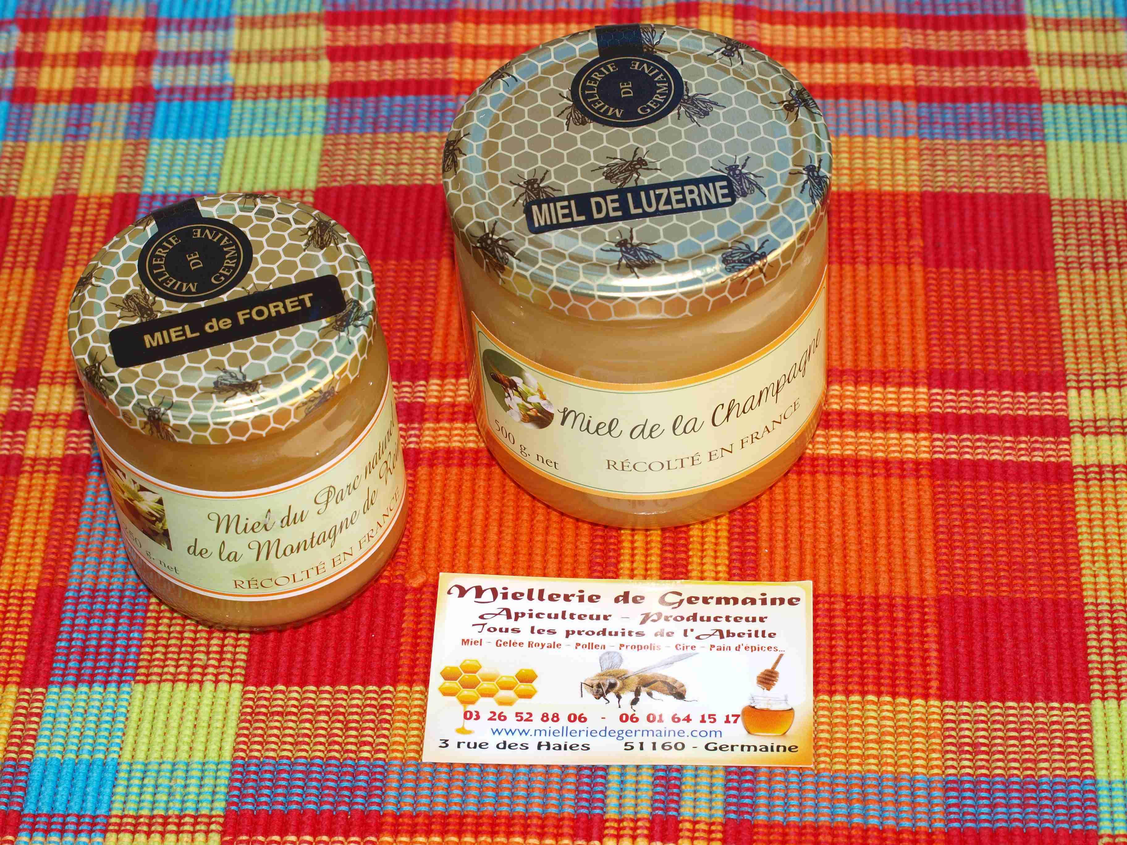 Pots de miel La miellerie de Germaine