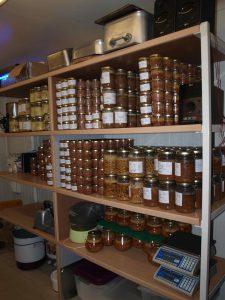 Quelques bocaux de La Basse-Cour Gourmande