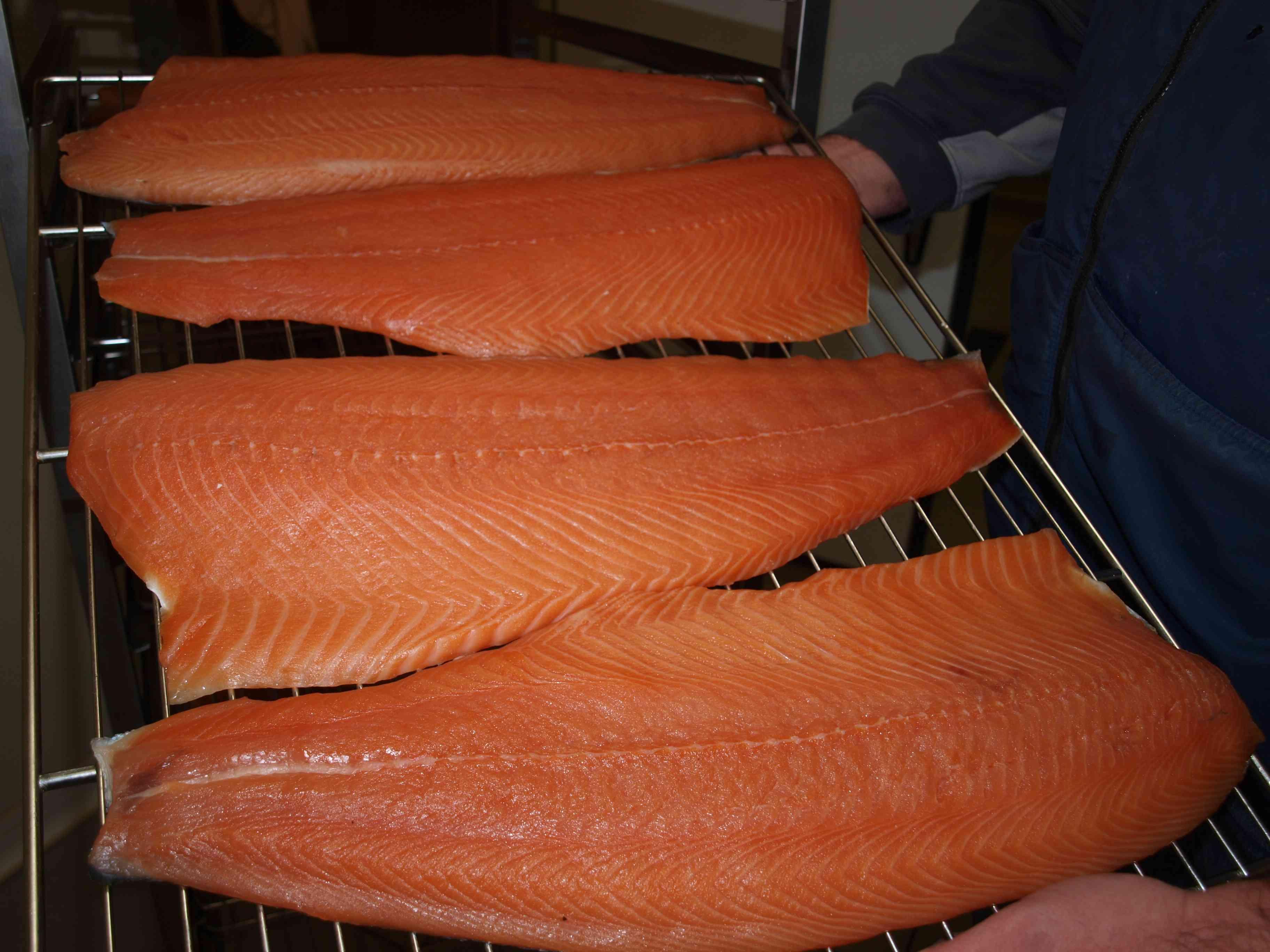 """Planches de saumon """"Au saumon champenois"""""""