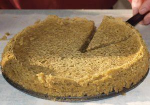 Gâteau à la farine de lentilles vertes bio, selon Frédérique Contal