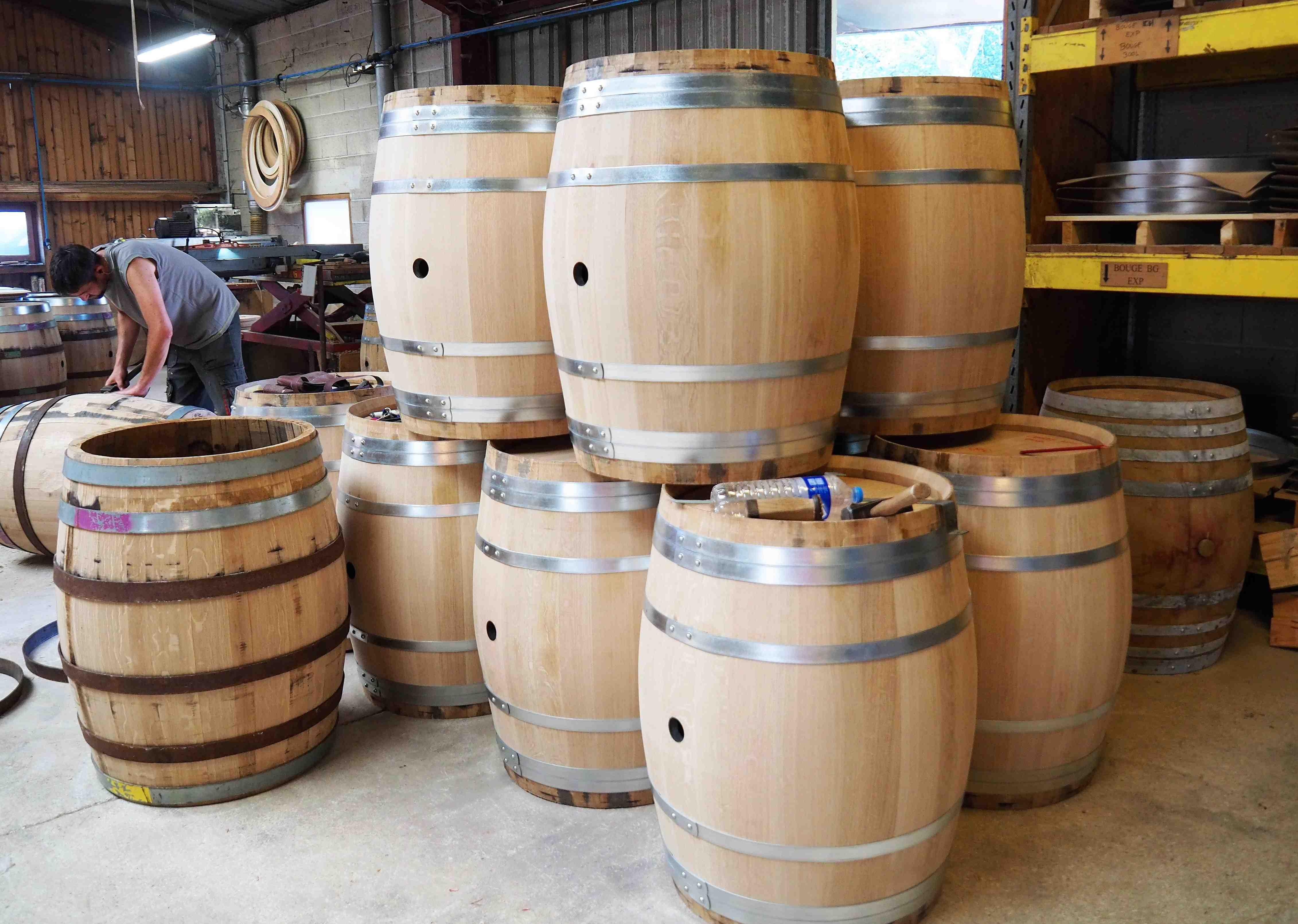 Les fûts de la Tonnellerie de Champagne