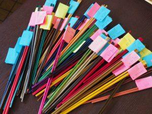 La gamme de couleurs marqueterie de paille