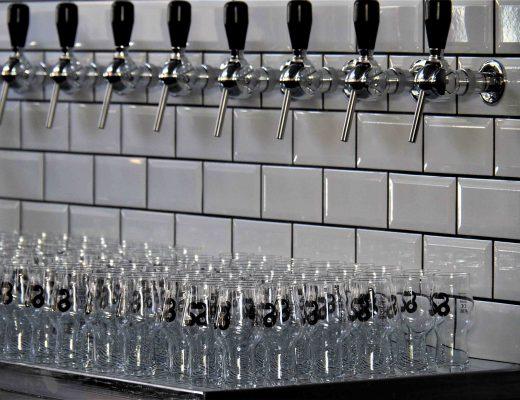 Les robinets à bière du Shed, prêts à remplir les verres !