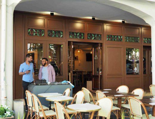 La jolie façade du restaurant Le Tablier