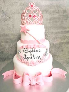 Wedding cake, version baptême