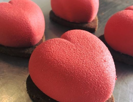 Petits coeurs chocolat-framboise