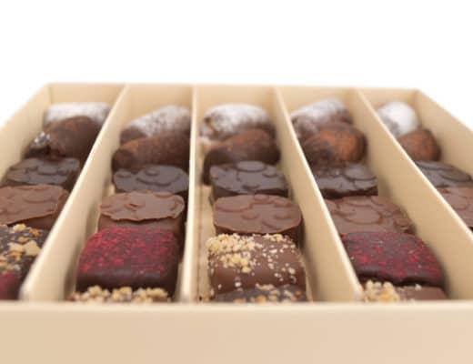Les assortiments de chocolat praliné