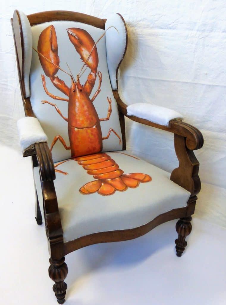 Peinture sur fauteuil