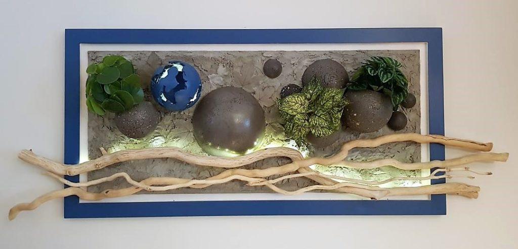 Tableau végétalisé, version bleue