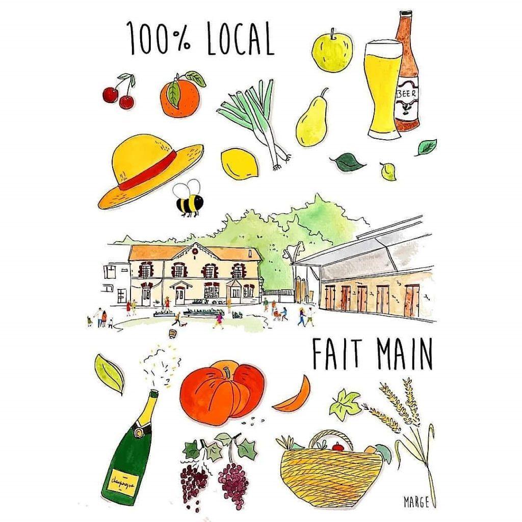 La belle et fraîche affiche du Marché paysan de Gueux