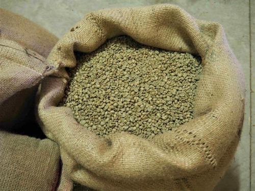 Café vert, en attente de la torréfaction