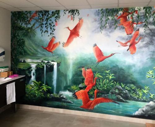 Fresque murale dans un cabinet de podologie !