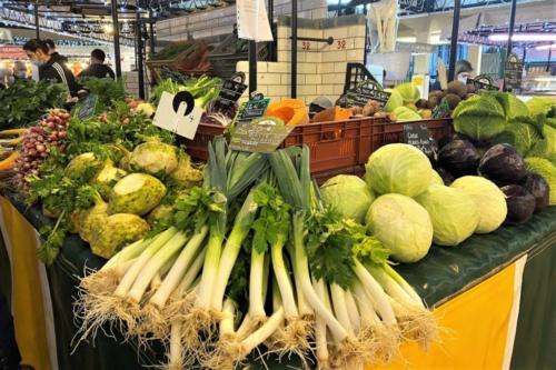 Etal au marché du Boulingrin