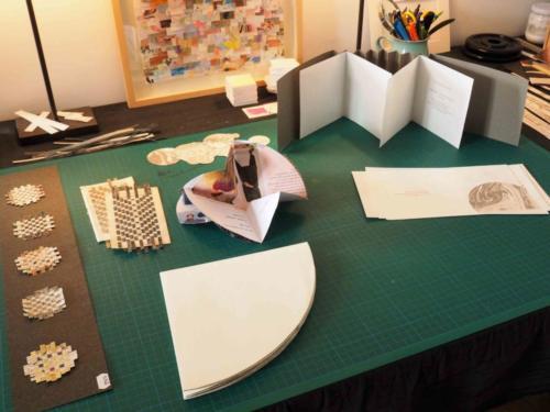 Ebauches en papier marbré