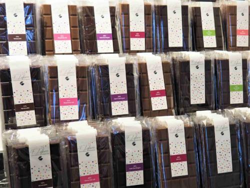 Tablettes de chocolat aux dix saveurs différentes !